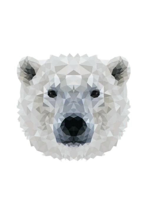 Pixxi Polar Bear wanddecoratie kinderkamer