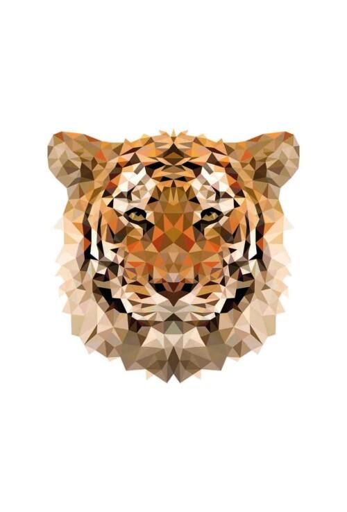 Pixxi Tiger wanddecoratie kinderkamer
