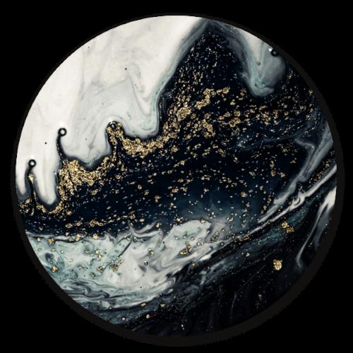 Marble Black Gold - muurcirkel voor aan de wand.