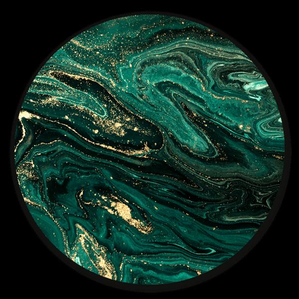 Marble Green - muurcirkel voor aan de wand.