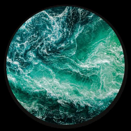 Ocean- ronde natuur muurdecoratie