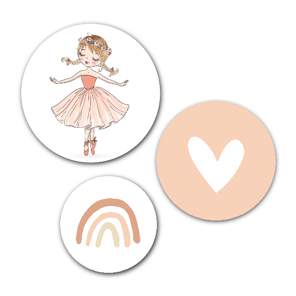Muurcirkel set Ballerina - wanddecoratie kinderkamer