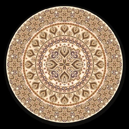 Perzisch beige - muurcirkel voor aan de wand