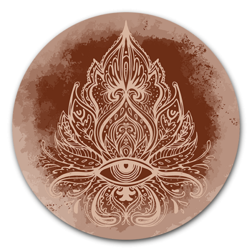Muurcirkel Boho Ornate - ronde muurdecoratie