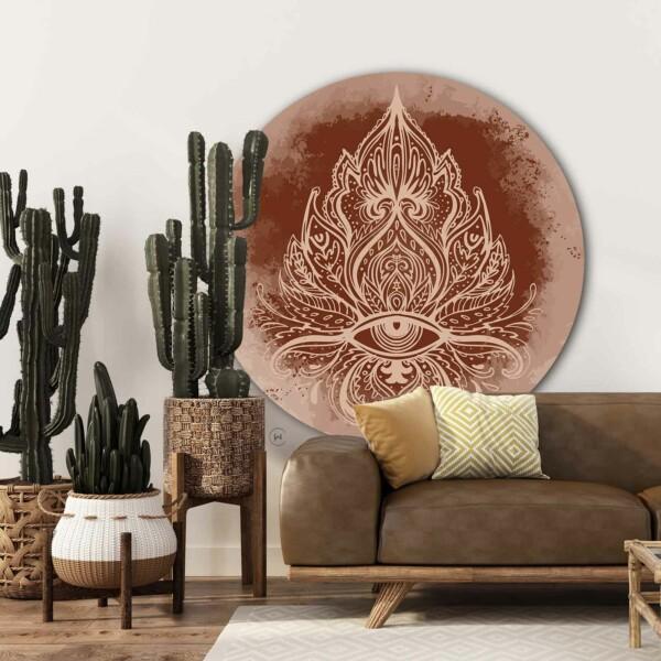 Muurcirkel Boho Ornate voor in huis