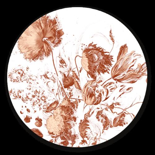 Muurcirkel Royal Vintage Flowers - ronde muurdecoratie