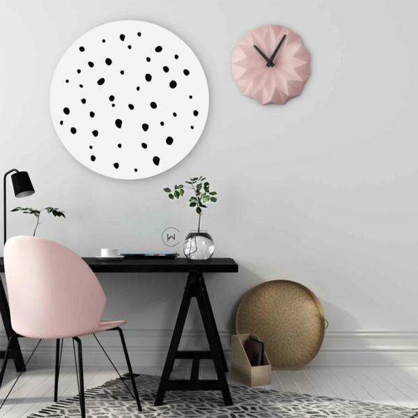 Wanddecoratie stippen kantoor