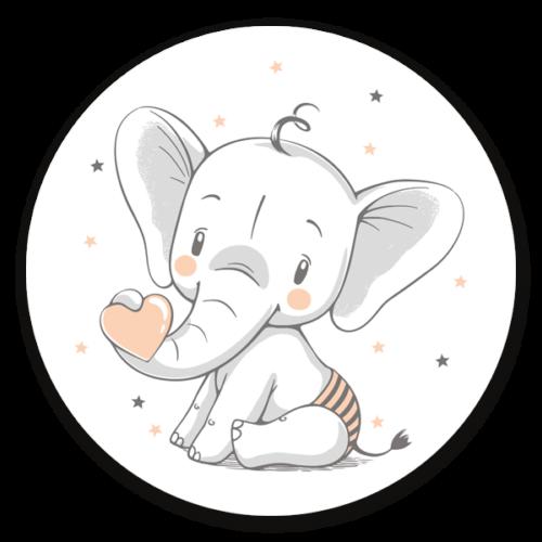 Muurcirkel Baby Elephant