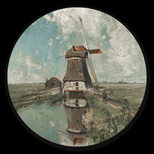 muurcirkel een molen aan de poldervaart