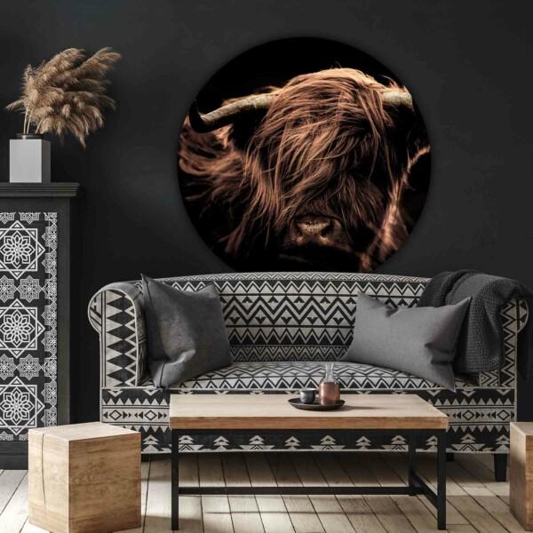 Dieren wanddecoratie Highlander portrait