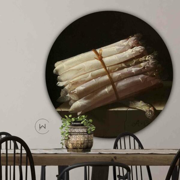 Kunstwerk Stilleven met asperges van Adriaen Coorte