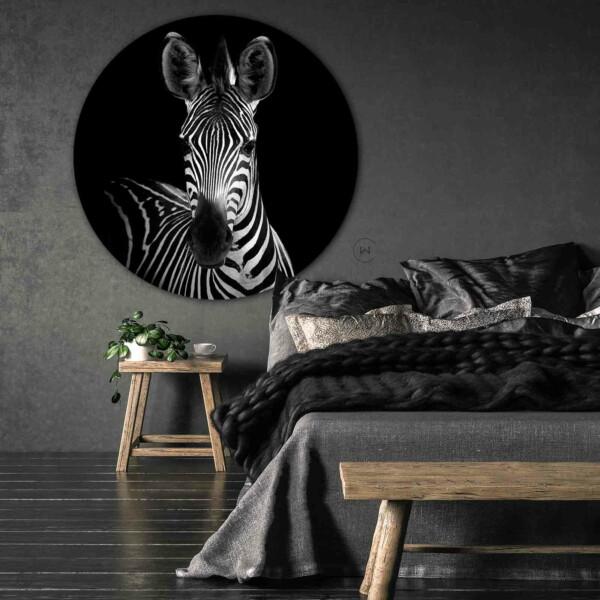 Zebra wandcirkel slaapkamer