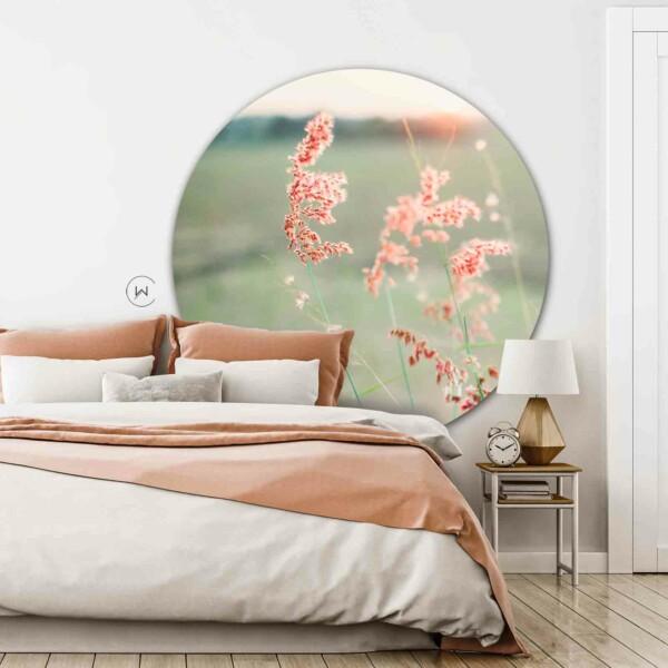 Natuur aan de muur op de slaapkamer