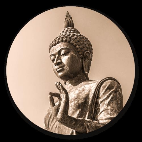 Muurcirkel Statue buddha