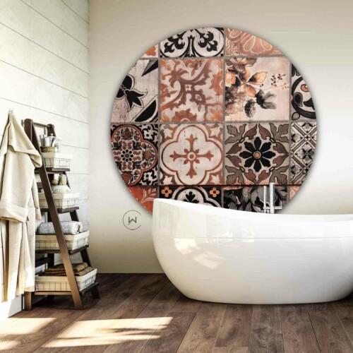 Muurdecoratie badkamer Tegel Puerto