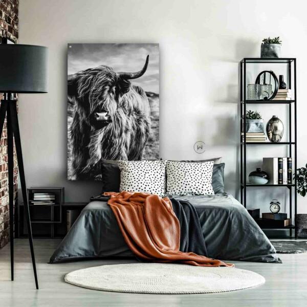 Wanddecoratie slaapkamer Schotse hooglander