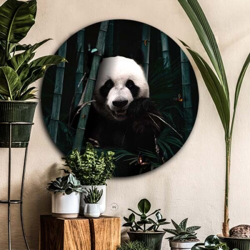 Hippe wanddecoratie dieren, jungle panda