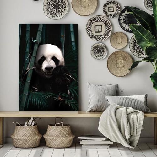 Panda in een boho interieur