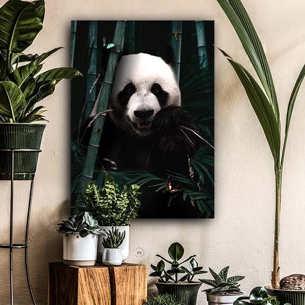 Unieke wanddecoratie dieren, jungle reuzenpanda