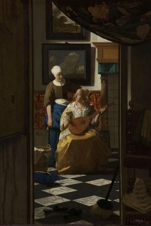 De liefdesbrief - Johannes Vermeer