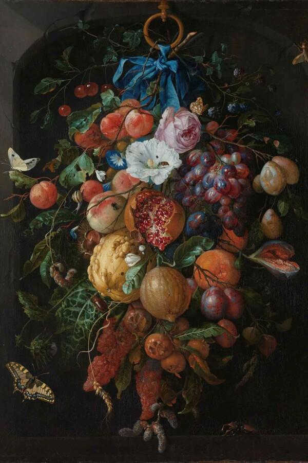Festoen van vruchten en bloemen - Jan Davidsz. de Heem