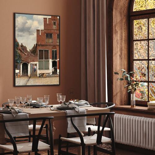 Het Straatje van Johannes Vermeer, oude meesters