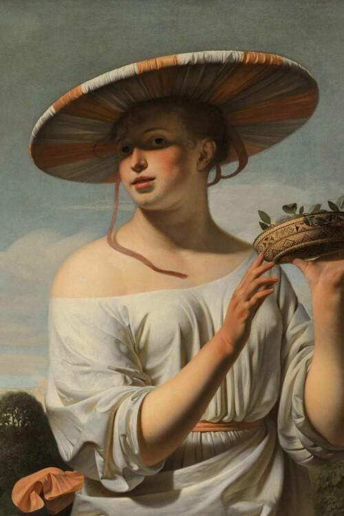 Meisje met de brede hoed - Caesar Boëtius van Everdingen
