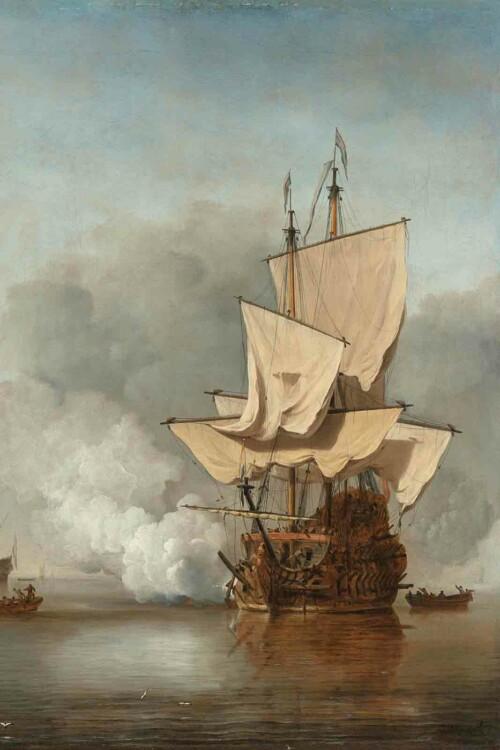 Het kanonschot - Willem van der Velde