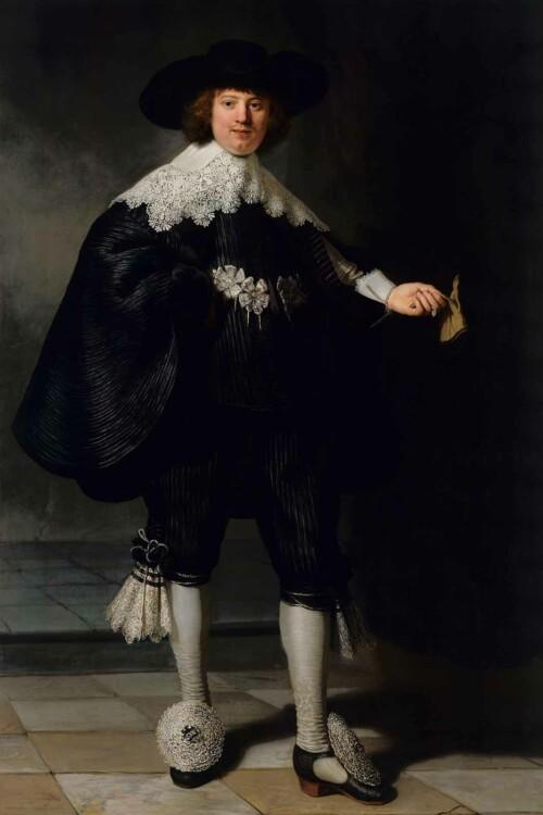 Portret van Marten Soolmans van Rembrandt van Rijn
