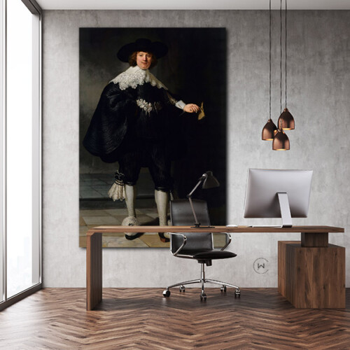 Portret van Marten Soolmans op kantoor
