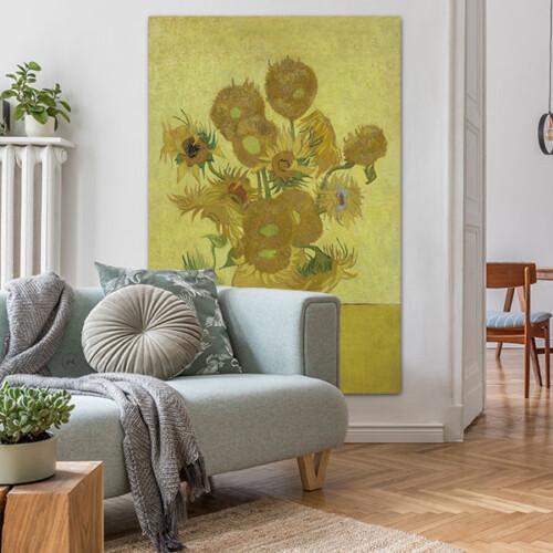 Wanddecoratie woonkamer Zonnebloemen - Vincent van Gogh