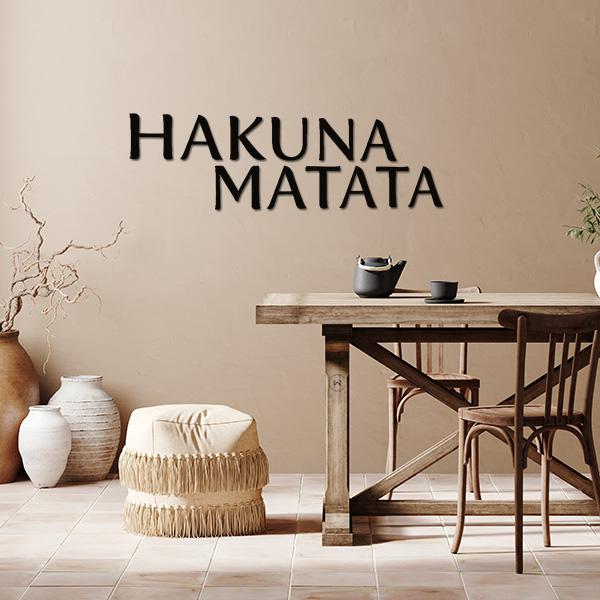 Hakuna matata decoratieletters in de eethoek
