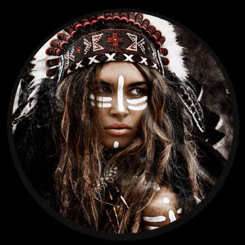 Muurcirkel Native woman